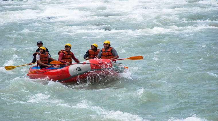 Rafting in Rishikesh with trekking in Himalayas